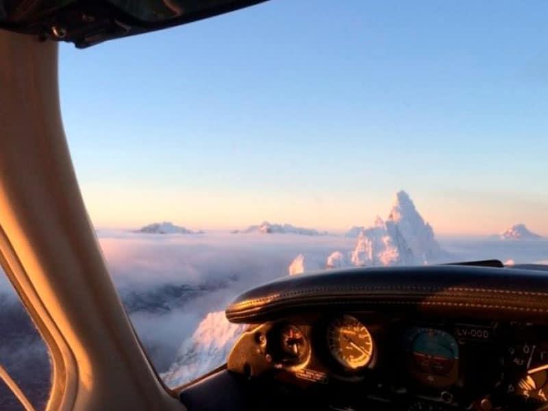 Passeio de avião em Ushuaia