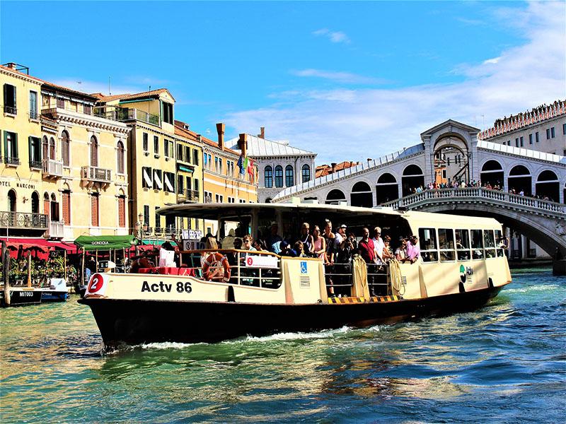 Transportes no centro de veneza
