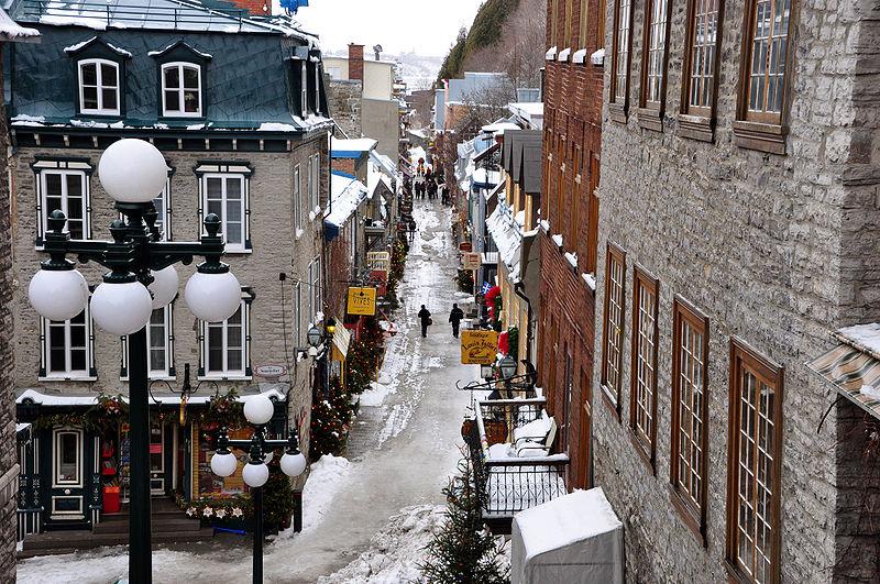 Montreal e Quebec no inverno
