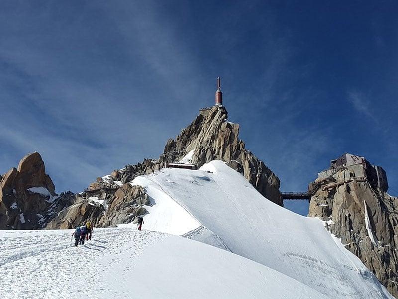 Neve nos Alpes franceses