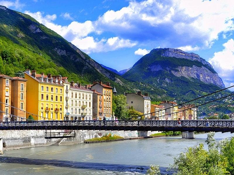 Principais cidades dos Alpes franceses.