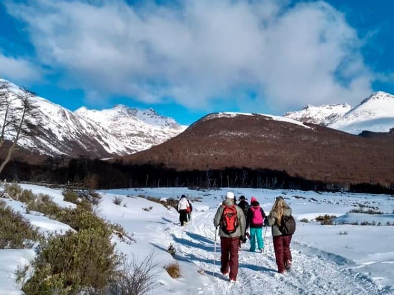 Pontos turísticos nos inverno em Ushuaia
