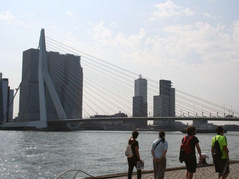 Caminhada em Roterdã