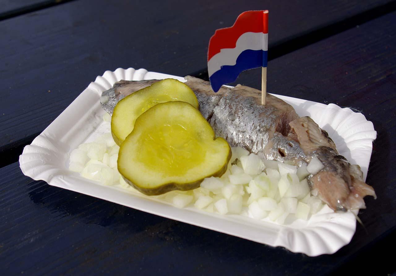 Comidas típicas da Holanda com frutos do mar