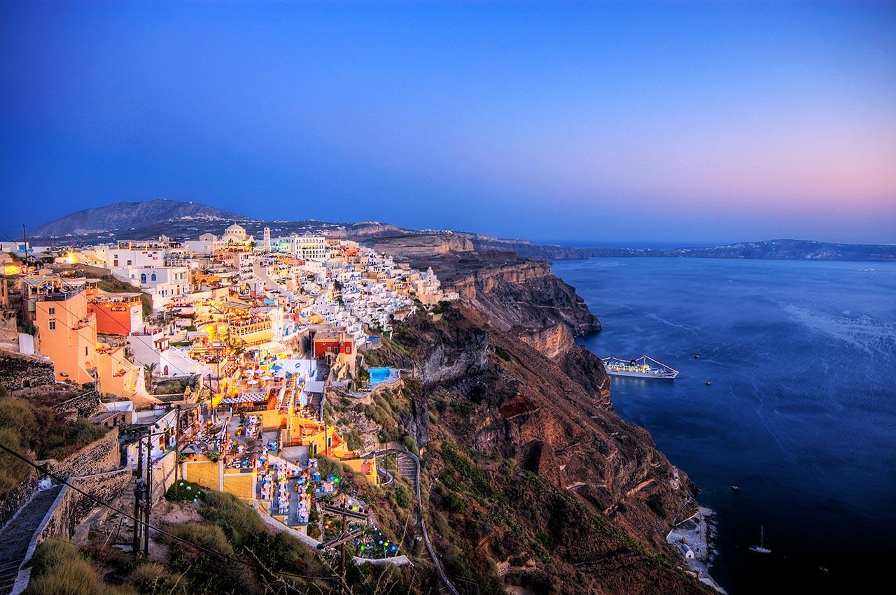 Quais lugares na Europa visitar em Santorini