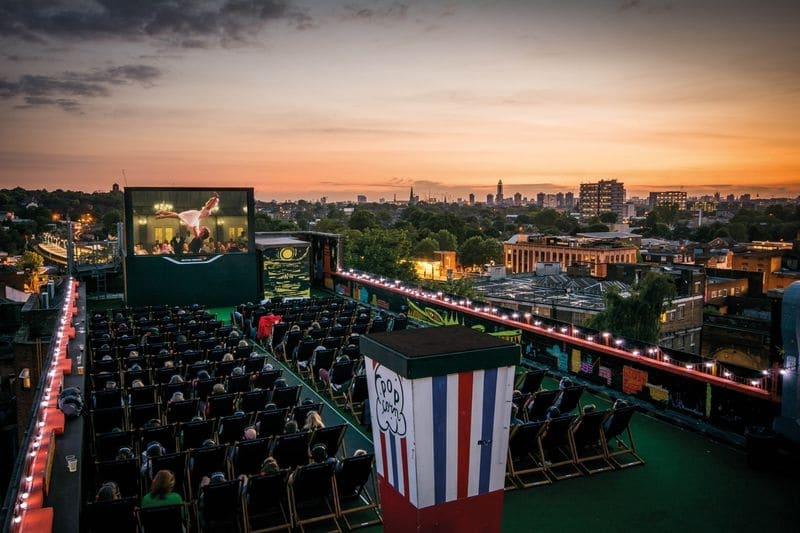 Cinema no verão em Londres