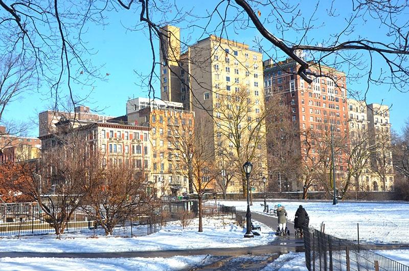 período do inverno em Nova York
