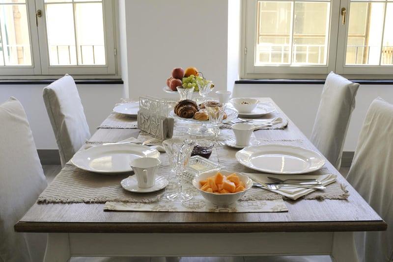 Café da manhã típico italiano