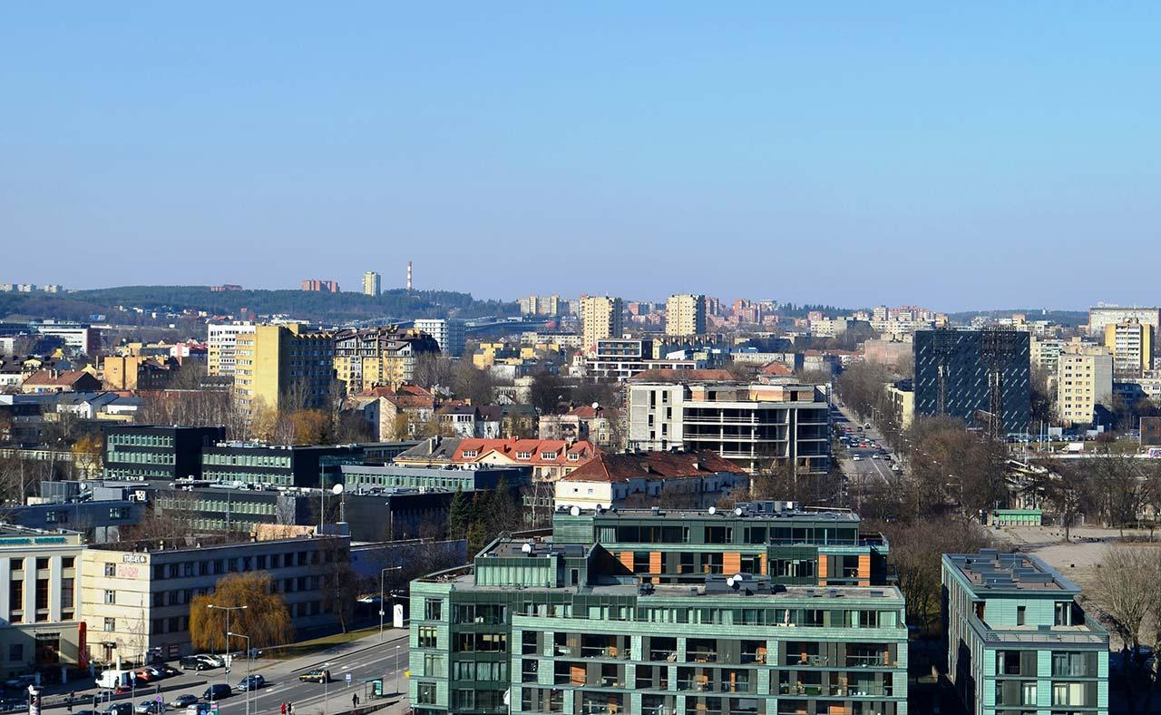 Prédios e bairros onde ficar em Vilnius