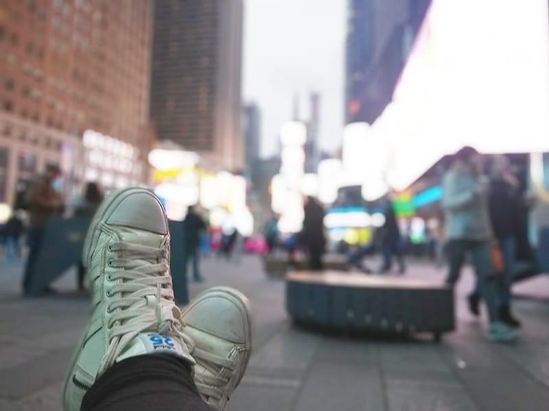 Comida barata na Times Square