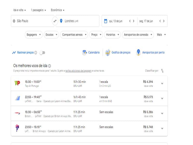 Dicas para pesquisar passagens aéreas no Google Flights