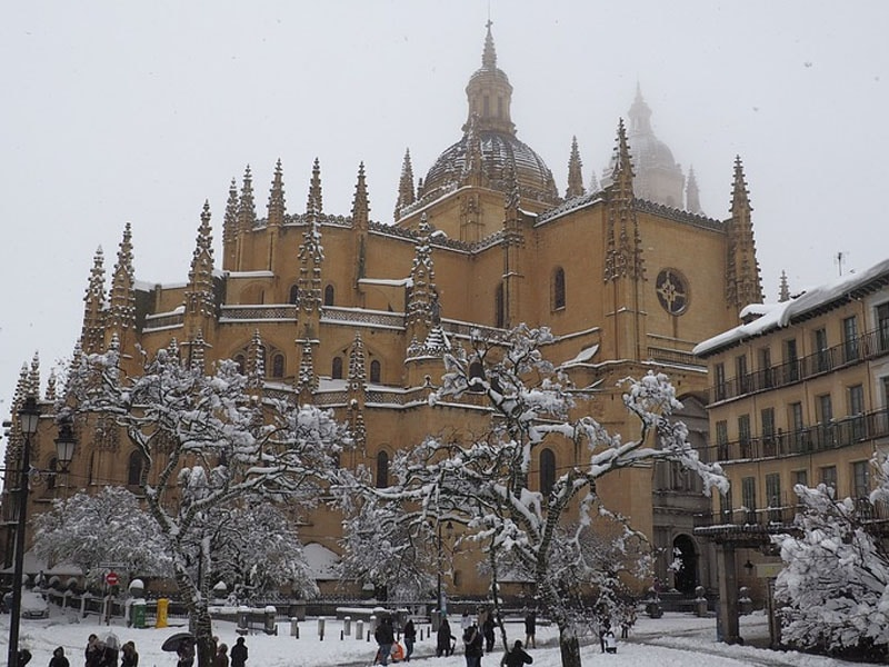 Inverno nas cidades da Espanha