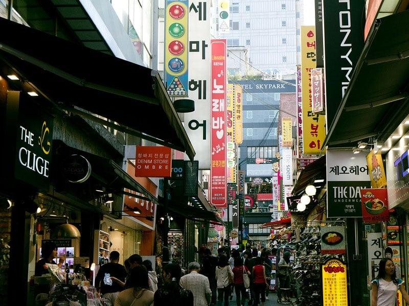 Lugares mais frequentados na Coréia do Sul