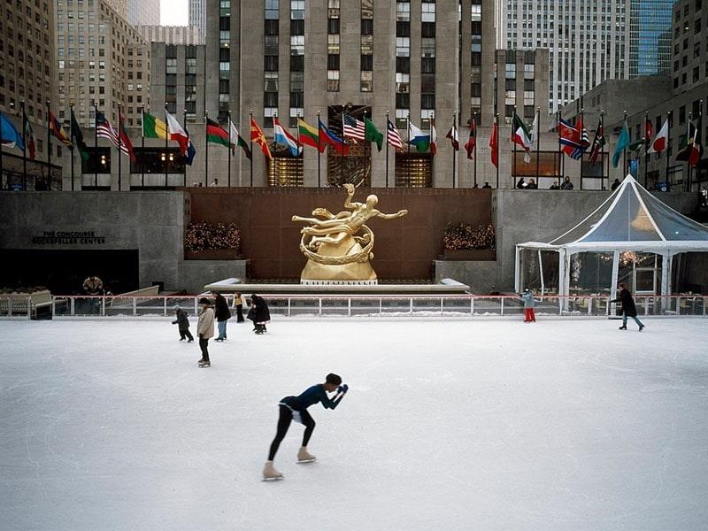 Onde patinar no gelo em NY