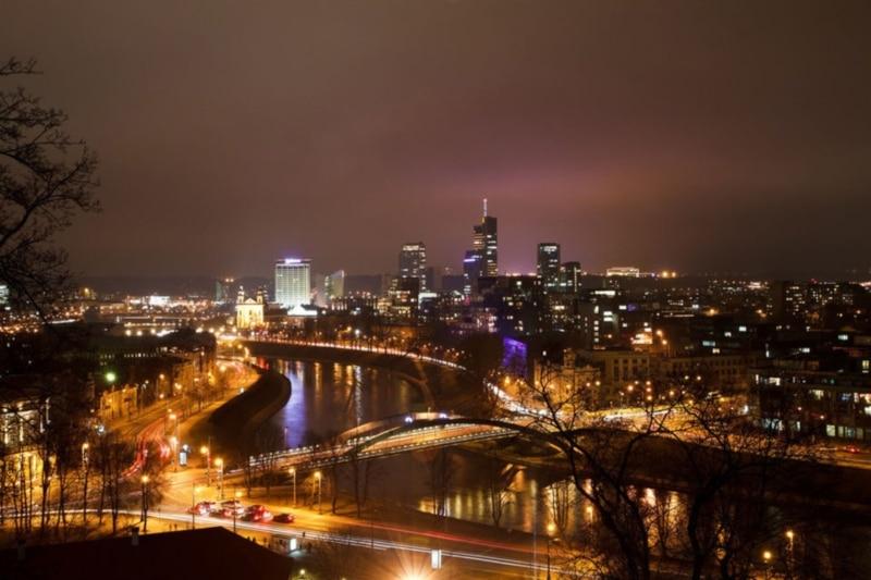 Tour à noite em Vilnius