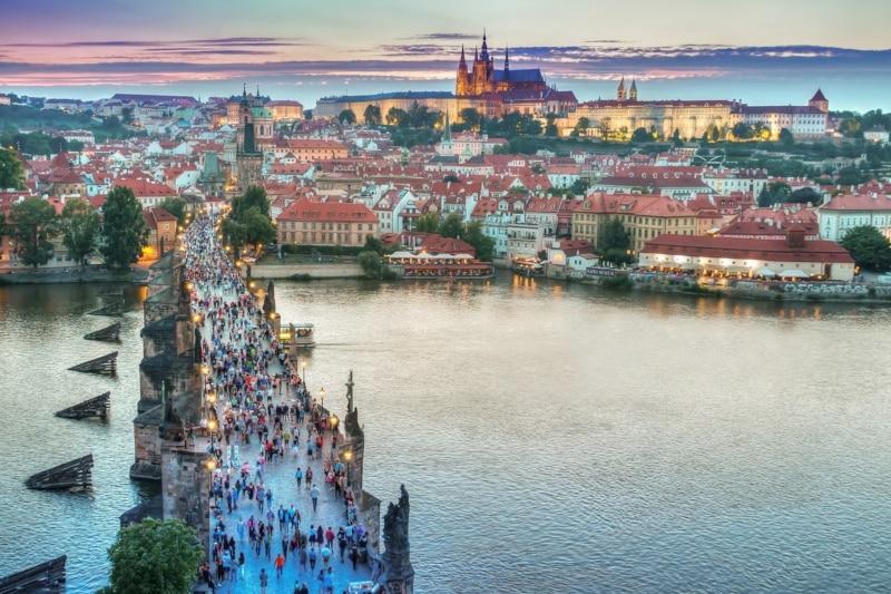 Praga no mapa mundi Europa