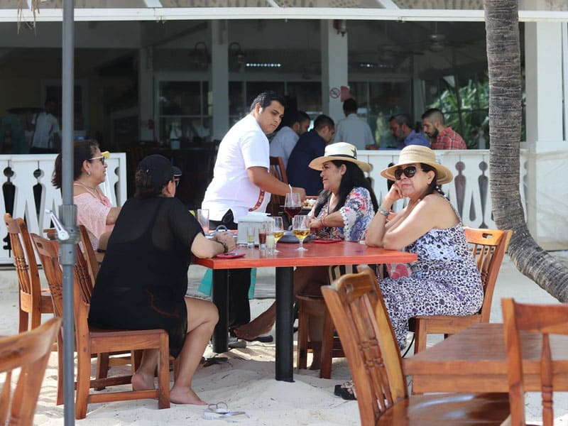 Restaurantes na praias de Cancún
