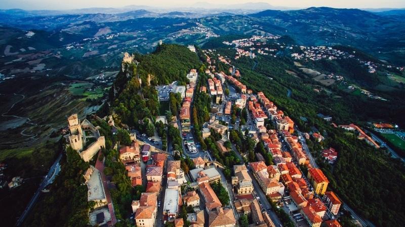 Mapa da Europa San Marino
