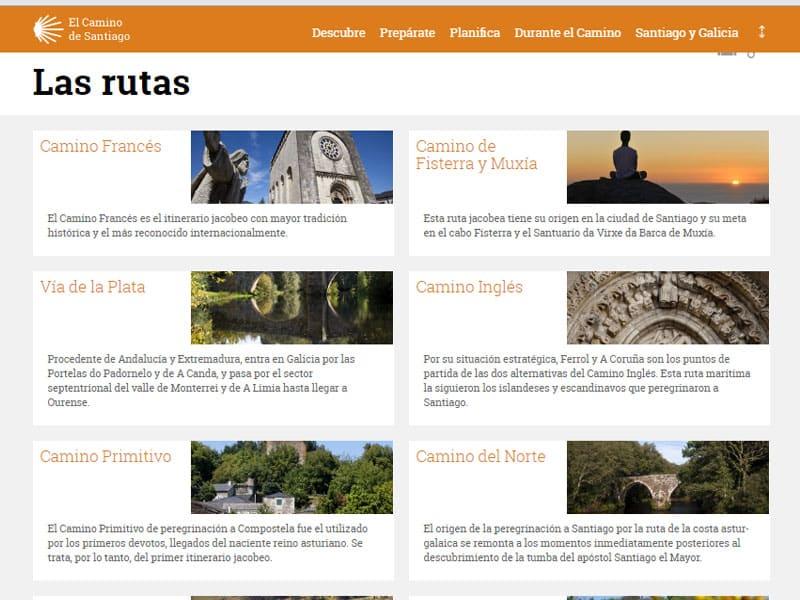 Rotas para Santiago de Compostela