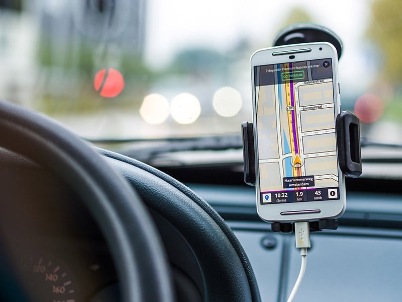 Google maps no carro