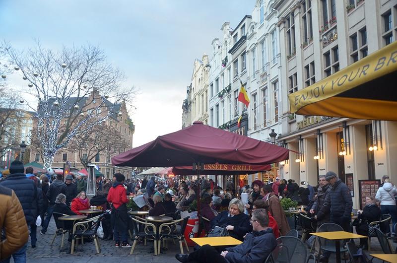 Mercado de Natal em Bruxelas