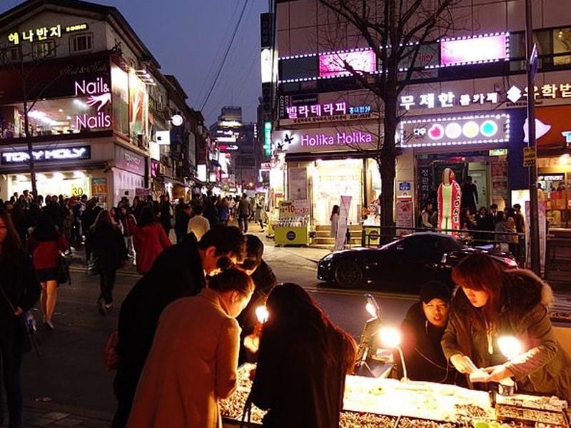 Vida noturna em Seul