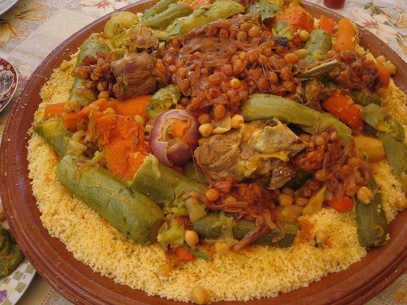 comidas típicas do Marrocos Cuscuz