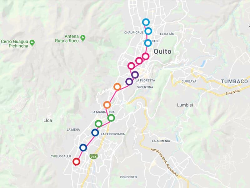 Metrô no Equador