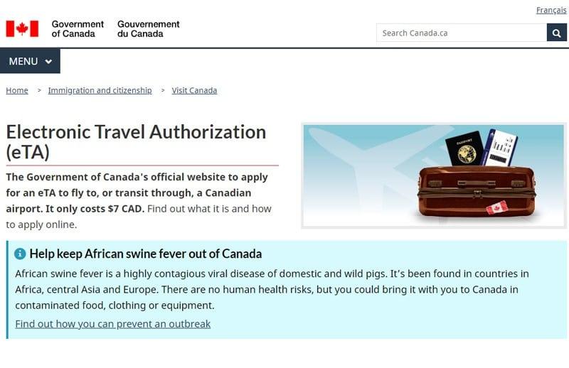 Documentos para viajar para o Canadá