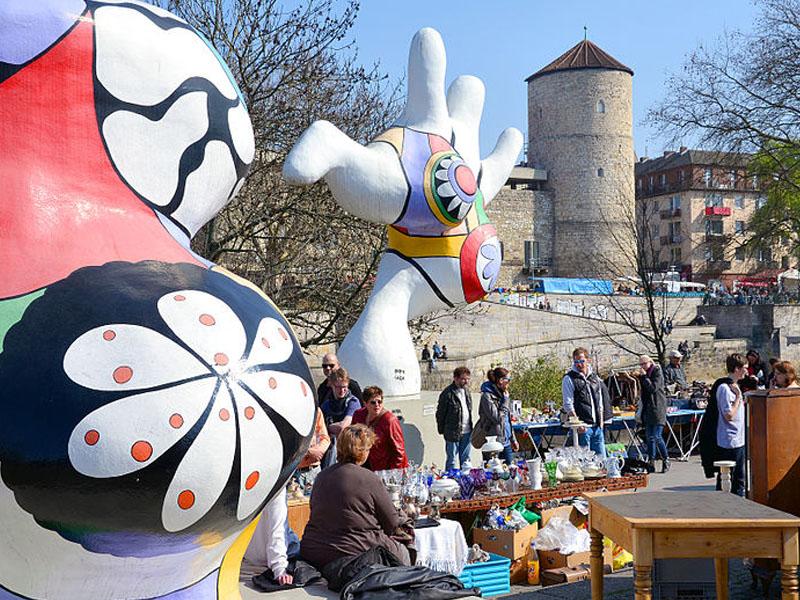 Mercado de pulga na Alemanha
