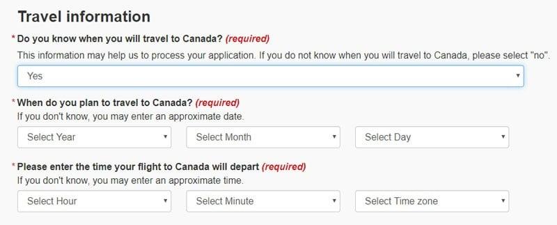 Solicitar o eTA para o Canadá