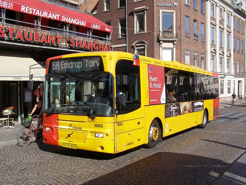 Ônibus em Copenhague
