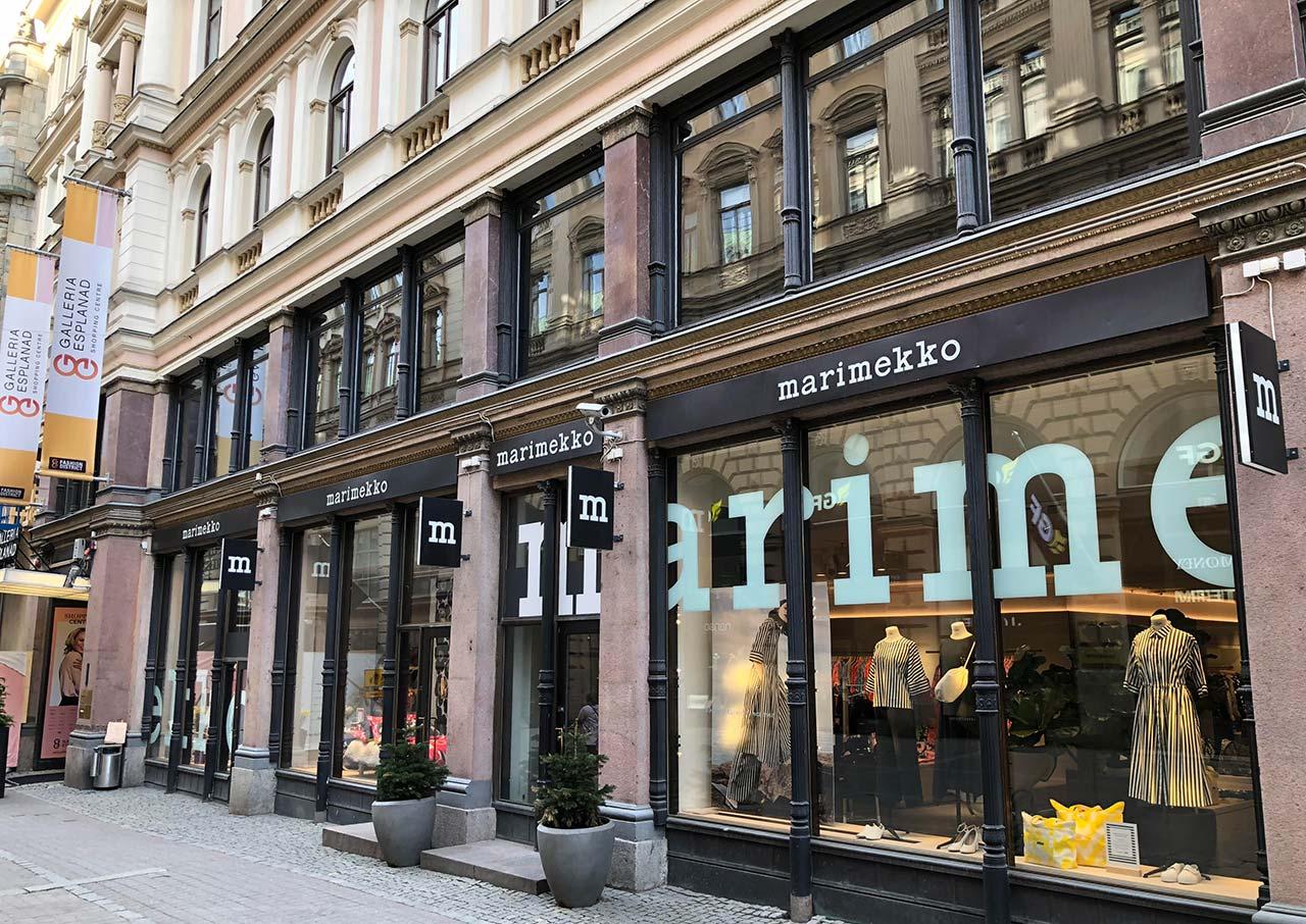 Compras de roupas em Helsinque