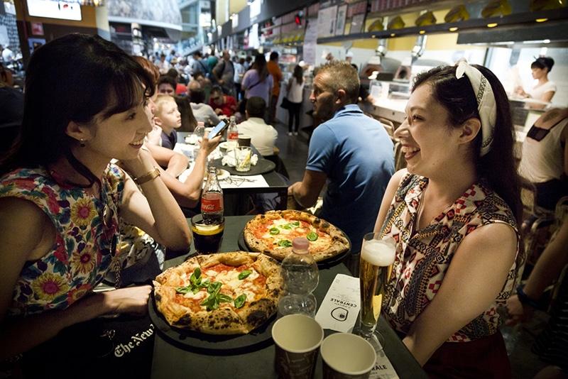 Pizza barata em Roma