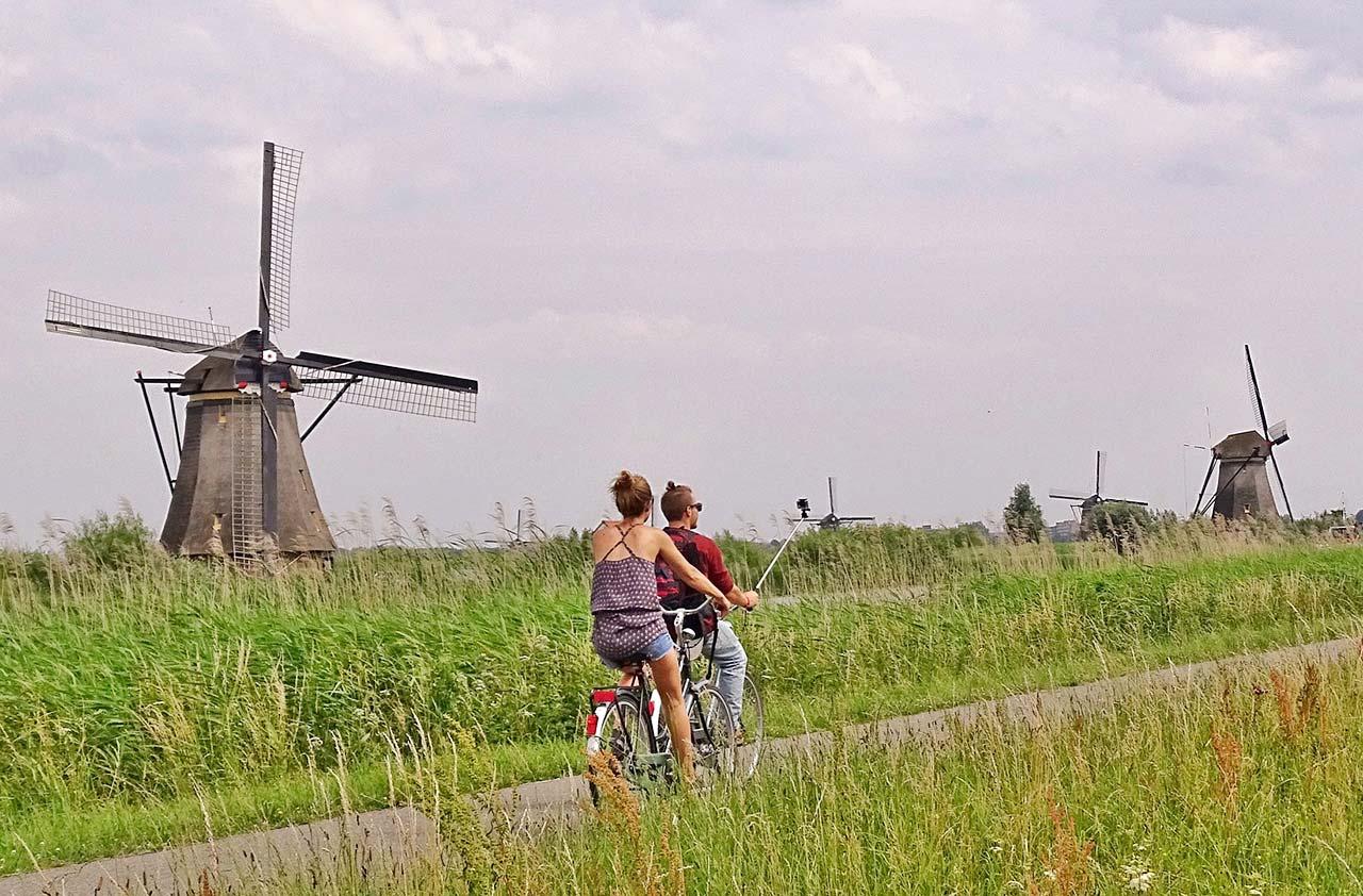 Rota de carro na Holanda