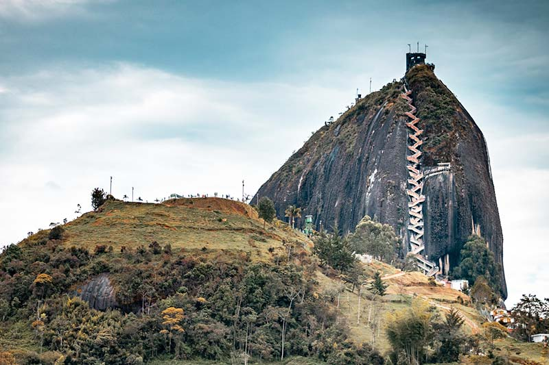 Mapa turístico da Colômbia