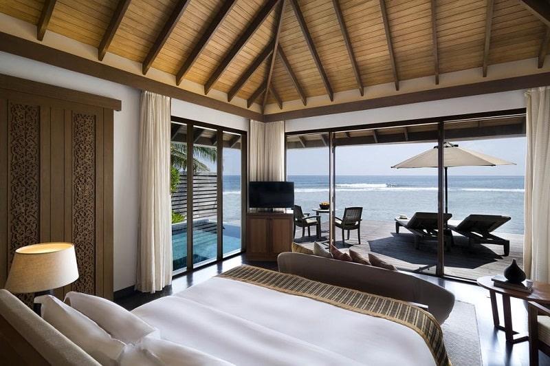 Mapa das Ilhas Maldivas com hotéis 5 estrelas