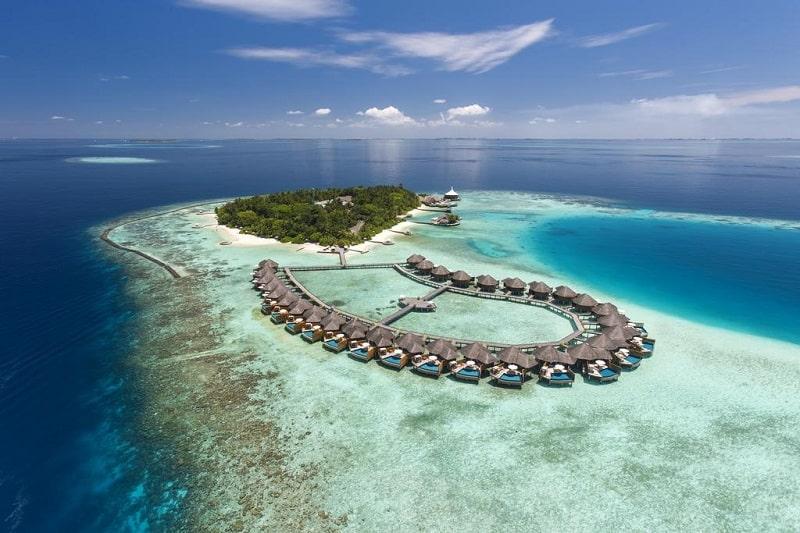 Mapa das Ilhas Maldivas para lua de mel
