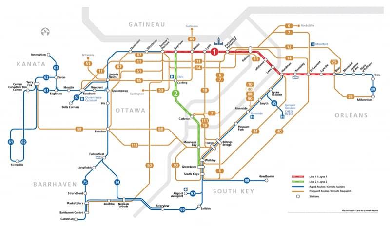 Transporte público Ottawa, Canadá