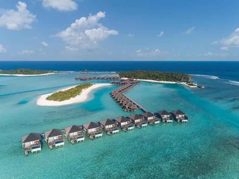 Mapa das Ilhas Maldivas - hoteis de luxo