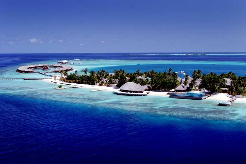 Mapa das Ilhas Maldivas para namorados