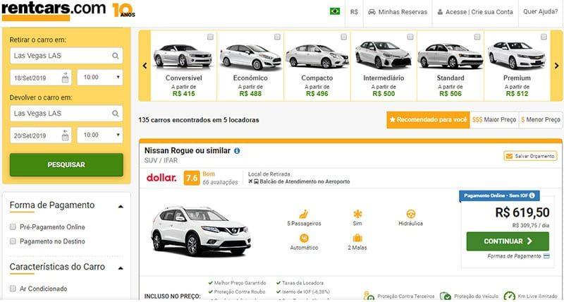 Aluguel de carro em Las Vegas: preços, documentos e dicas