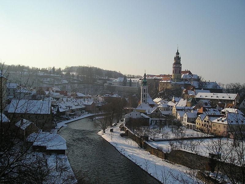Český Krumlov inverno