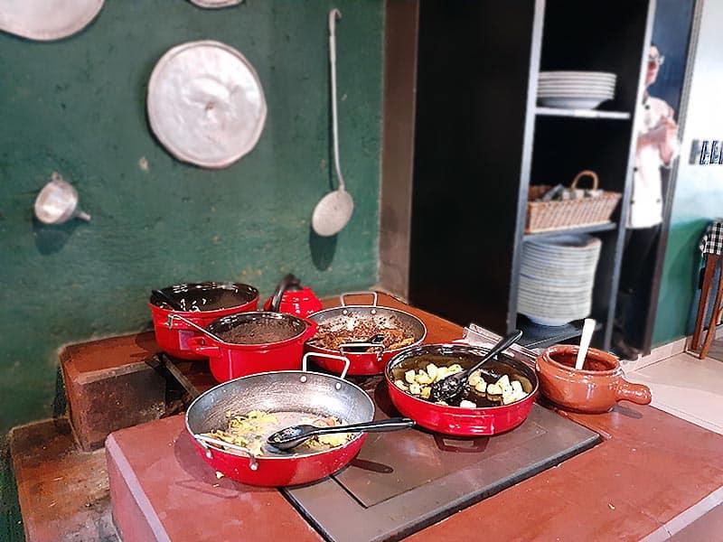 Comida tradicional em Nova Veneza