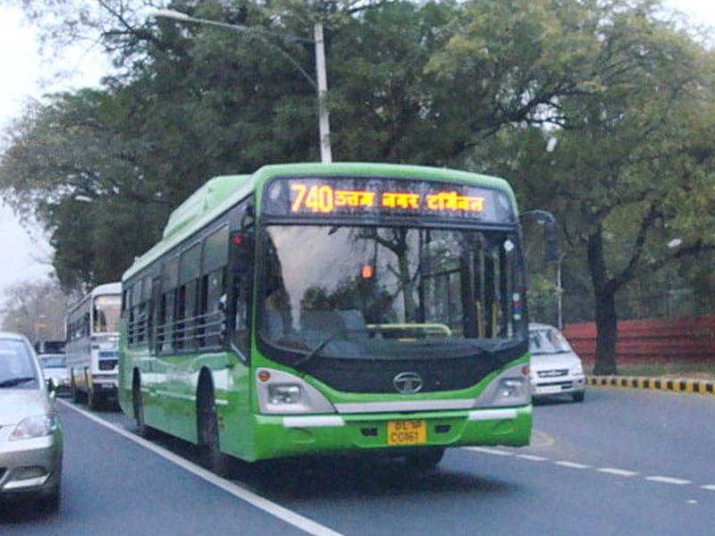 Transporte em Nova Deli coletivo