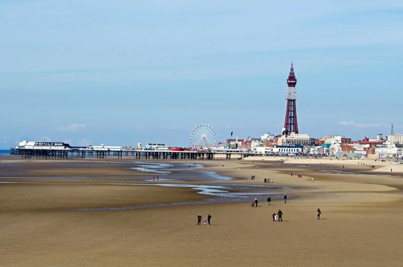 Blackpool no mapa da Inglaterra