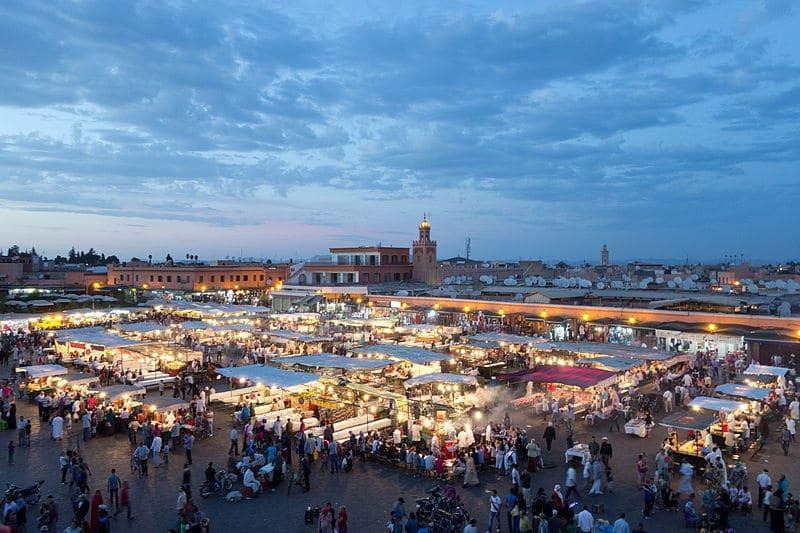 Mapa do Marrocos para viagem