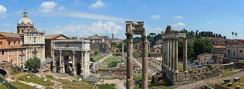 forum romano mapa