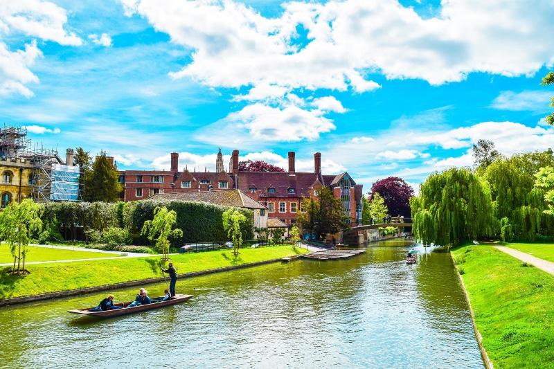 Cambridge no mapa da Inglaterra