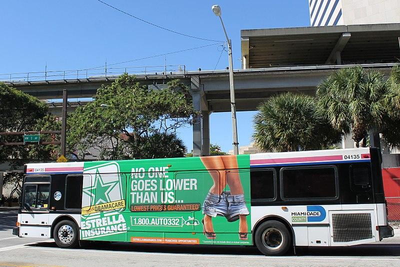 Ônibus no aeroporto de Miami